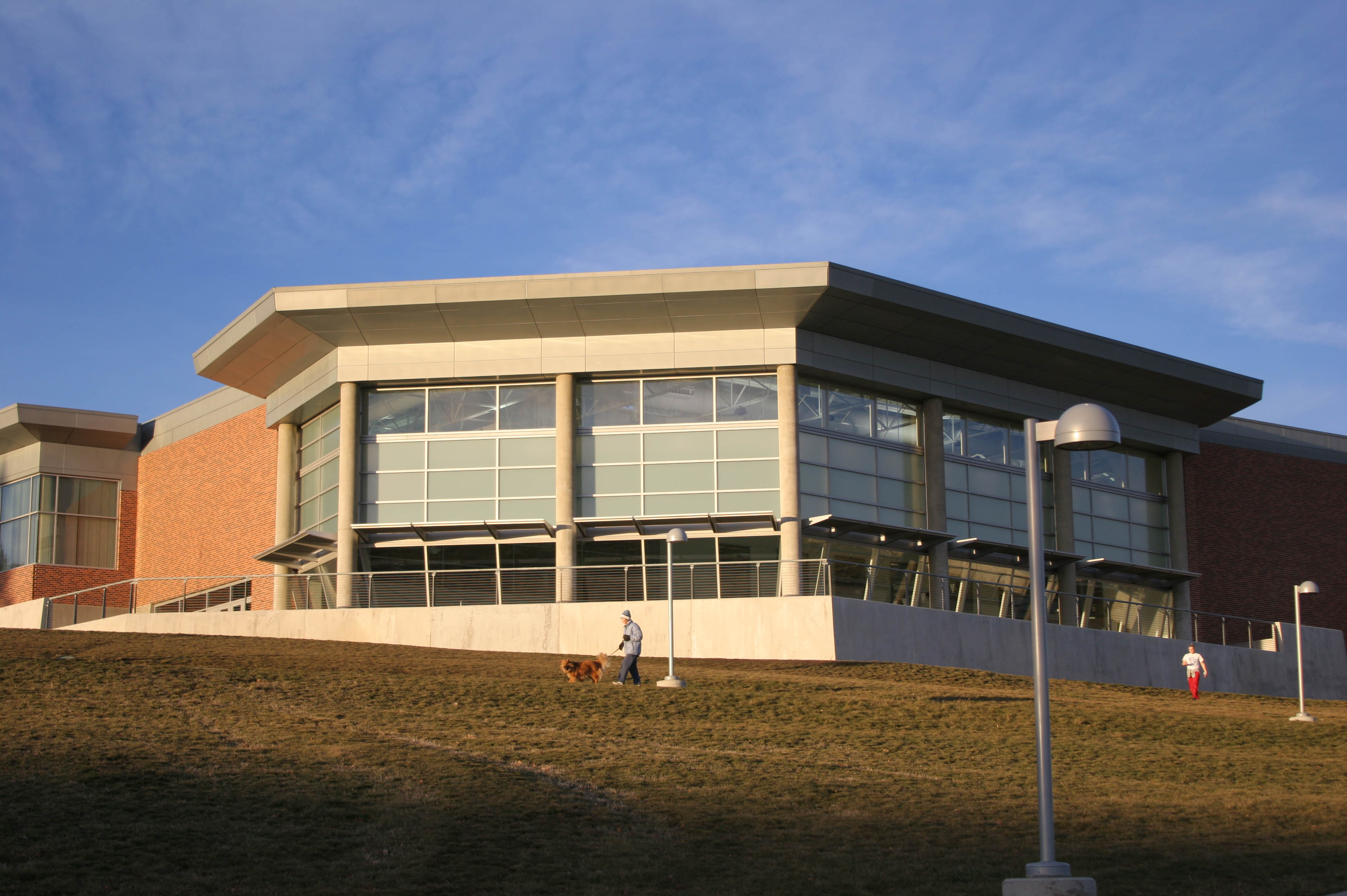 Exterior photo of the Student Recreation Center
