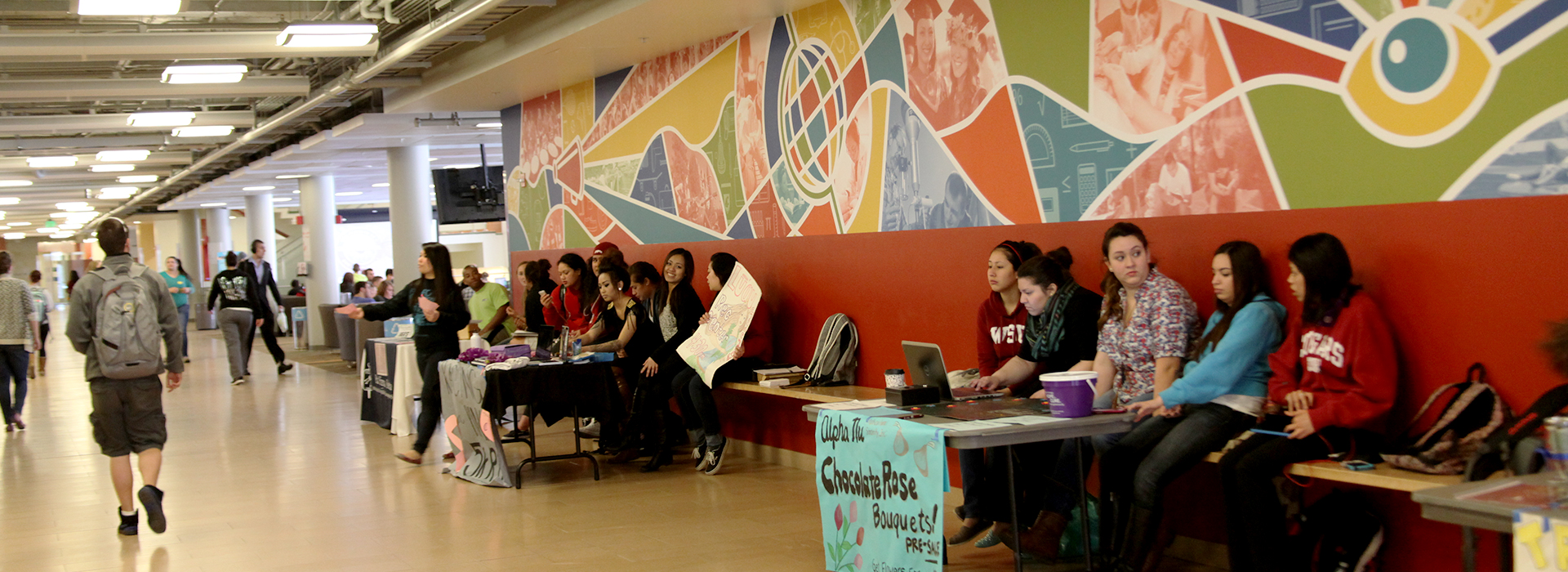 Students tabling in the Compton Union Building